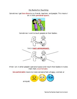 Social Story Rules for Touching