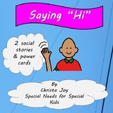 Saying Hello social stories and activities