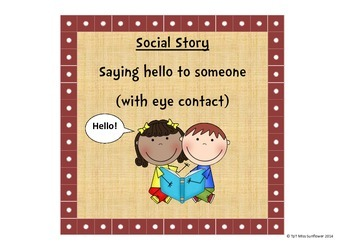 Social Story - Saying hello with eye contact