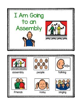 School Assembly Social Story for ASD, Non-Verbal, Special Needs (Boardmaker)
