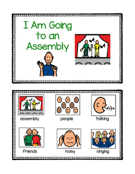 School Assembly Social Story for ASD, Non-Verbal, Special Needs (Boardmaker)
