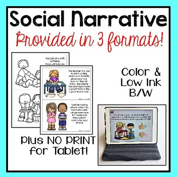 Social Narrative Set & Activities:  Let's Be Friends