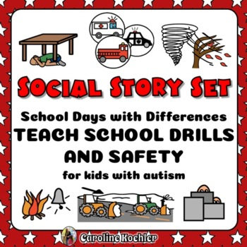 Social Story Set: Teach School Drills & Safety for Student