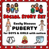 Social Story Set Growing Up BUNDLE: BOYS & GIRLS in Puberty – Distance Learning