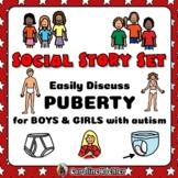 Social Story Set Growing Up BUNDLE: BOYS & GIRLS in Pubert