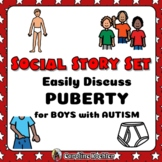 Social Story Set for Growing Up: Boys in Puberty (Autism,