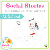 Social Story Set for children with Autism:  At School