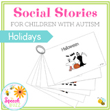 Social Story Set for children with Autism:  Holidays