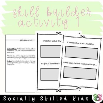 SOCIAL STORY SKILL BUILDER   I Will NOT Spit At Others