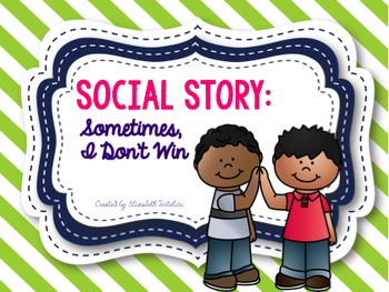 Social Story: Sometimes I Don't Win (color version)