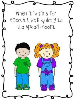 Social Story - Speech Room Rules