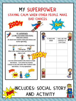 Social Story: Staying Calm (Autism/Behavior)