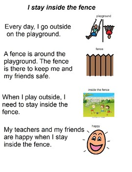 Social Story - Staying Inside The Fence While On The Playground