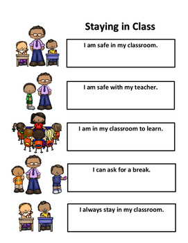 Social Story: Staying in Class