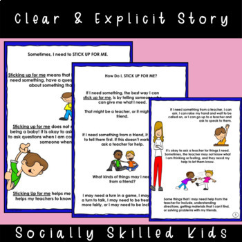 SOCIAL STORY: Sticking Up For Me! {Boys}