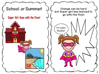 Summer to School Transition:  Super girl goes with the flow!