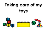 Social Story - Taking Care of my Toys (no throwing)