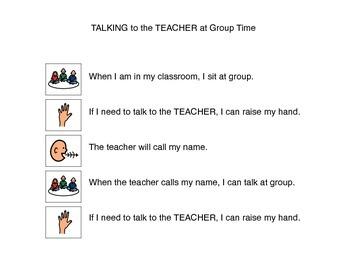 Social Story, Talking At Group - Autism VISUAL