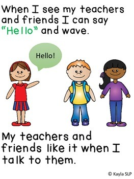 Interactive Social Story- Talking to Others at School