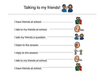 Social Story, Talking To Friends - Autism VISUAL