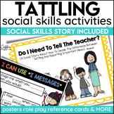 Social Story Tattling Print Digital Video