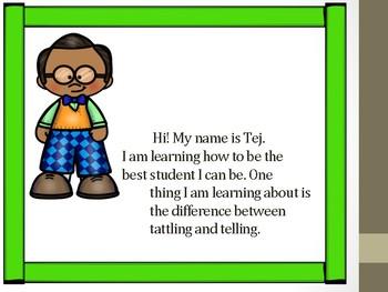 Social Story - Tattling vs. Telling