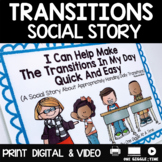 Social Story Transitions Print Digital Video