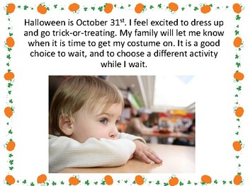 Social Story: Trick or Treating