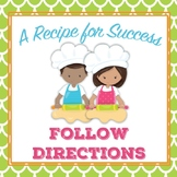 Social Story Unit: Following Directions - A recipe for Success