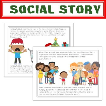 Social Story Unit: A Plan to Reduce Holiday Anxiety