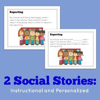 Social Story Unit: THINK Theodore - tattle vs. reporting