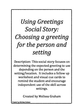 Social story using different types of greetings by melissa graham slp social story using different types of greetings m4hsunfo