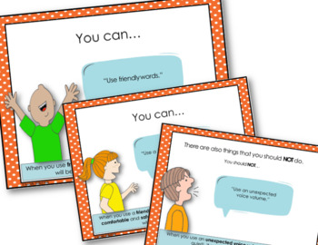SOCIAL STORY SKILL BUILDER   Using Friendly Talk {For Boys and Girls Elementary}
