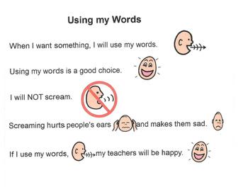 Social Story - Using My Words/No Screaming