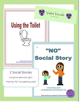 Social Story, Using the Bathroom & Hearing NO