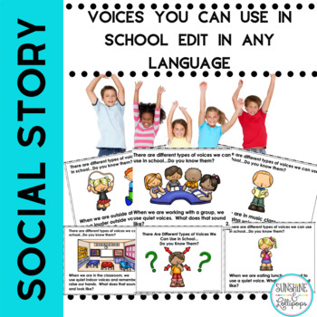 Social Story Voices we Can Use in School Editable for any Language