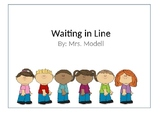 Social Story Waiting in Line At School (EDITABLE)
