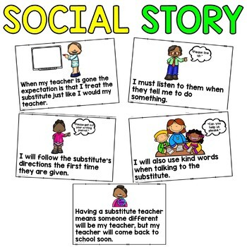 Social Story: We have a Substitute