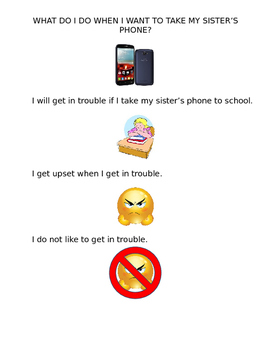 Social Story: What do I do when I want to take my sister's phone