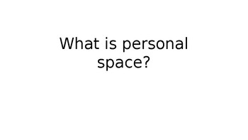 Social Story: What is personal space?