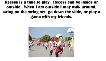 Social Story - What should I do at recess? - Autism