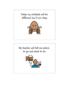 Social Story-When My Schedule Changes
