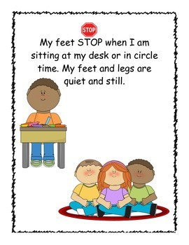 Social Story- When My Feet Stop and Go