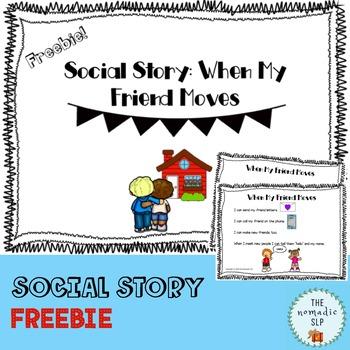 Social Story: When My Friend Moves (FREEBIE)