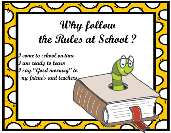 Social Story- Why Follow The Rules At School?