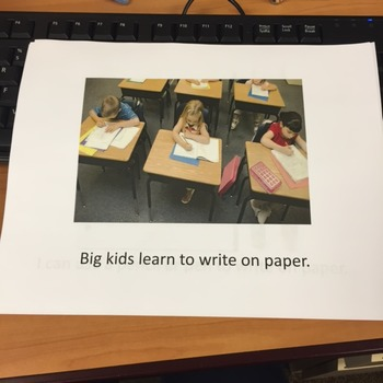 Social Story- Writing on Paper