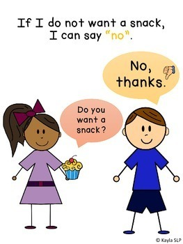 Using My Words: Yes and No (Social Narrative)