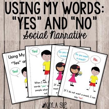 Interactive Social Story- Using Yes/No