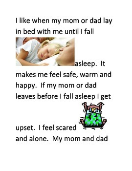 Social Story about Falling Asleep on My Own.
