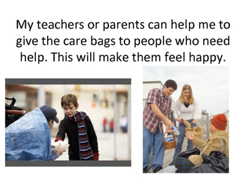 Social Story about Helping Homeless - Community Based Instruction
